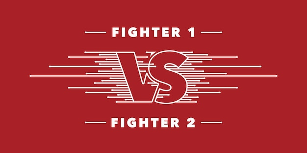 Icône de vecteur de lettres vs, logo. conception de compétition d'équipes avec signe contre sur fond rouge. bannière ou toile de fond