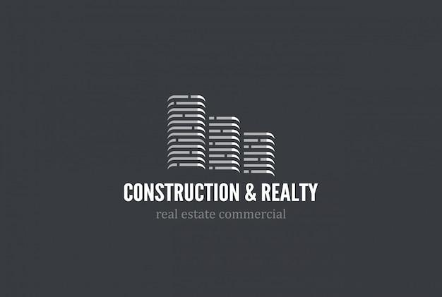Icône de vecteur de logo immobilier.