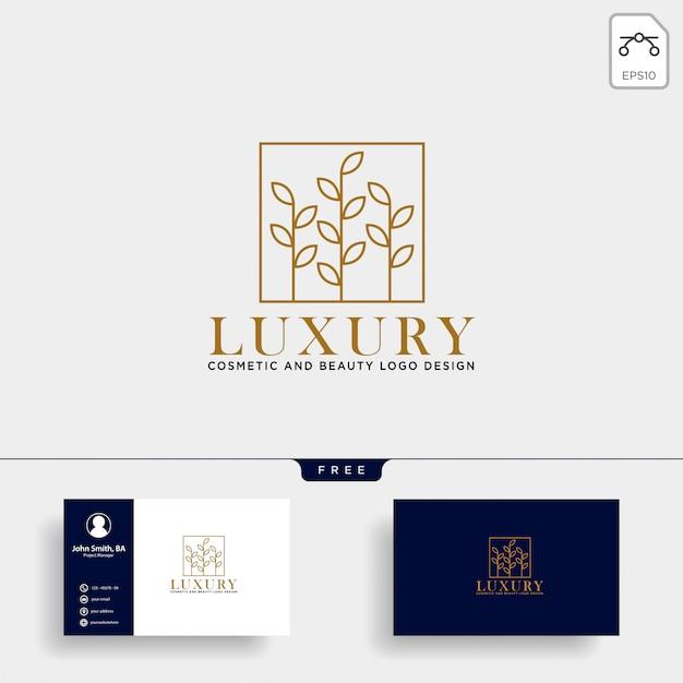 Icône de vecteur de logo ligne cosmétique beauté
