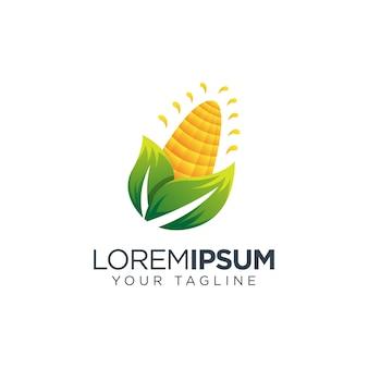 Icône de vecteur de logo de maïs