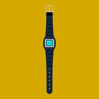 Icône de vecteur de montre-bracelet isolé