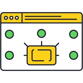 Icône de vecteur de paiement en ligne avec fenêtre de site web