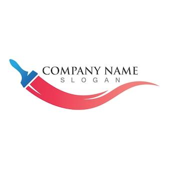 Icône de vecteur de peinture logo entreprise