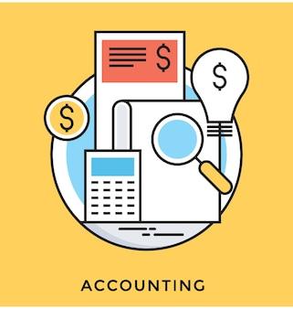 Icône de vecteur plat comptable