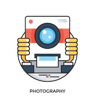Icône de vecteur plat de photographie