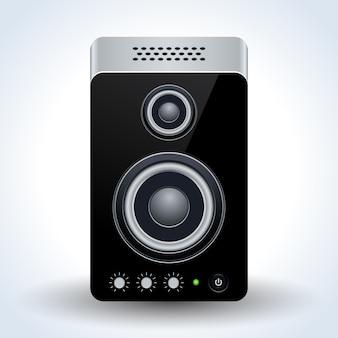 Icône de vecteur réaliste de haut-parleur de bureau