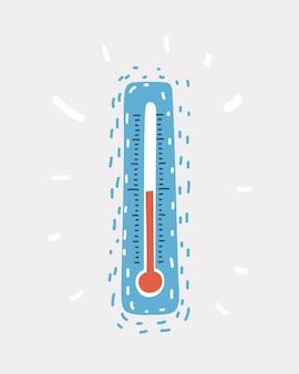 Icône de vecteur de température