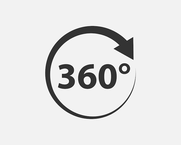 Icône de vecteur de vue à 360 degrés. signes et symboles pour les sites web, la conception web, l'application mobile.