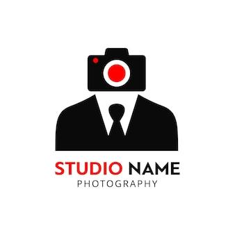 Icône vectoriel noir et rouge pour les photographes