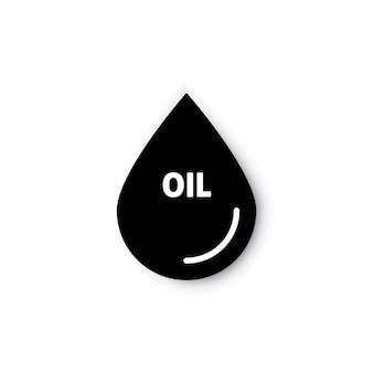 Icône vectorielle plate goutte d'huile ou d'essence pour les applications et les sites web