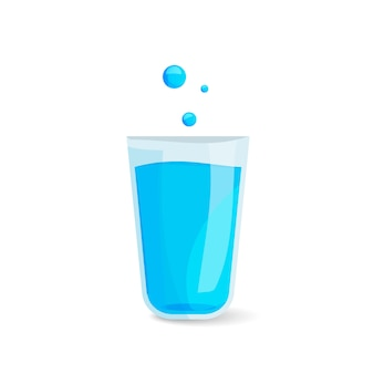 Icône de verre d'eau