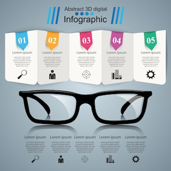 Icône de verres. illustration abstraite infographique.