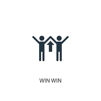 Icône de victoire gagnante. illustration d'élément simple. conception de symbole de concept gagnant-gagnant. peut être utilisé pour le web et le mobile.