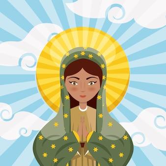 Icône de la vierge marie