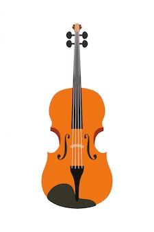 Icône de violon d'instrument de musique