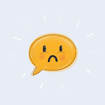 Icône de visage de sourire bulle discours