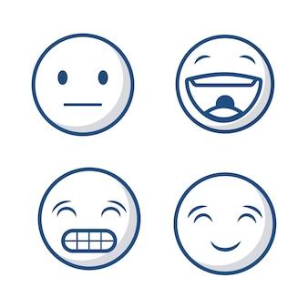 Icône de visages émoticônes