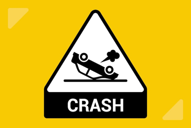 Icône de voiture inversée. le conducteur a eu un accident. illustration vectorielle plane.