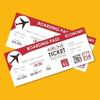 Icône de vol de billet d'avion
