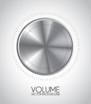 Icône de volume sur illustration vectorielle fond gris