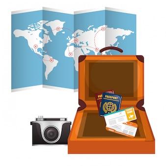 Icône de voyage, illustration vectorielle