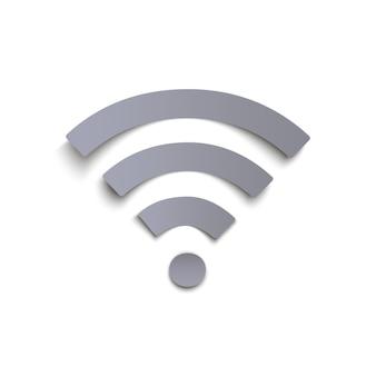 Icône wi-fi sur fond blanc.