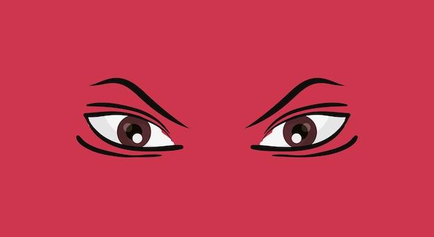 Icône yeux suspects