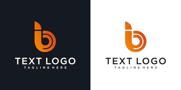 Icônes abstraites pour le modèle de conception de logo icône lettre b