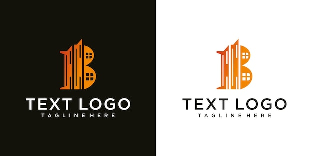 Icônes abstraites pour le modèle de conception de logo d'icône de lettre initiale b
