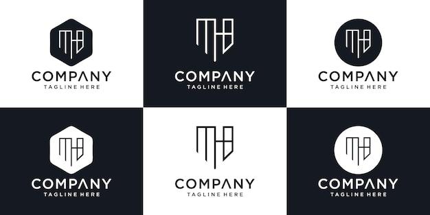 Icônes abstraites pour le modèle de conception de logo d'icône de lettre initiale mb