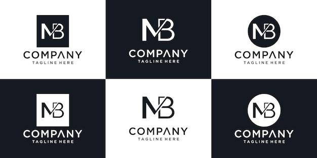 Icônes abstraites pour le modèle de conception de logo icône lettre mb