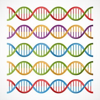 Icônes d'adn, symboles pour la science et la médecine