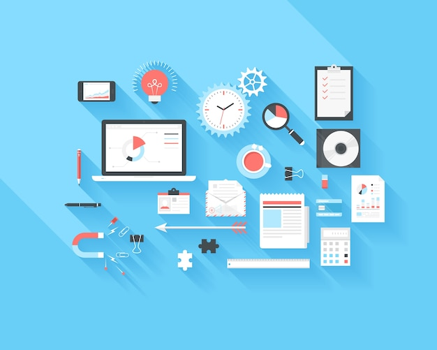 Icônes d'affaires et de bureau