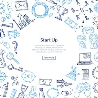 Icônes d'affaires en cercle