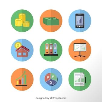 Icônes d'affaires financières