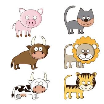 Icônes d'animaux de la faune et de la ferme