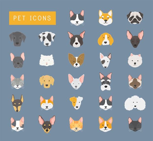 Icônes d'animaux