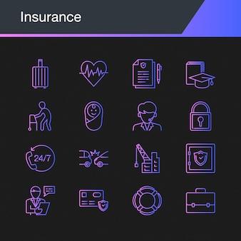 Icônes d'assurance