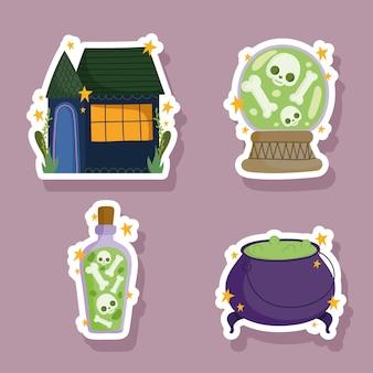 Icônes d'autocollants d'halloween