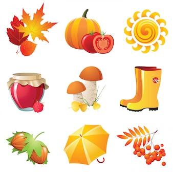 Icônes d'automne