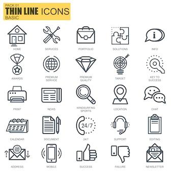Icônes de base de ligne