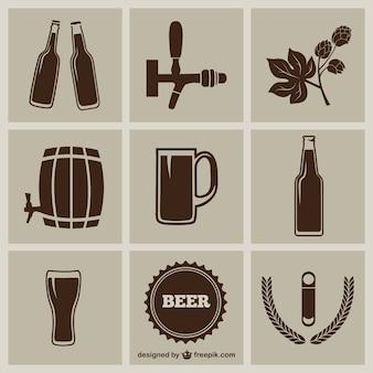 Icônes de bière emballer