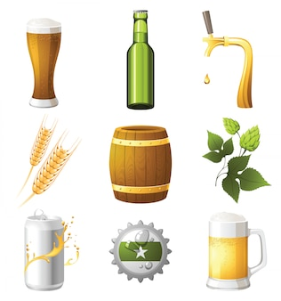 Icônes de la bière