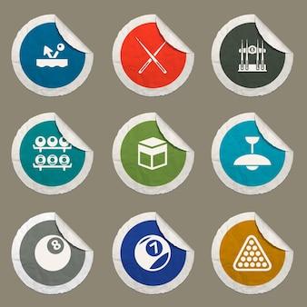 Icônes de billard définies pour les sites web et l'interface utilisateur