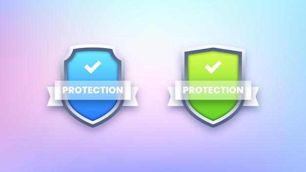 Icônes de bouclier de protection