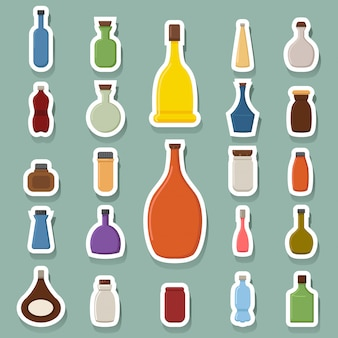 Icônes de la bouteille