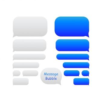 Icônes de bulles de message bleu pour le chat.