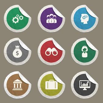 Icônes de bureau définies pour les sites web et l'interface utilisateur