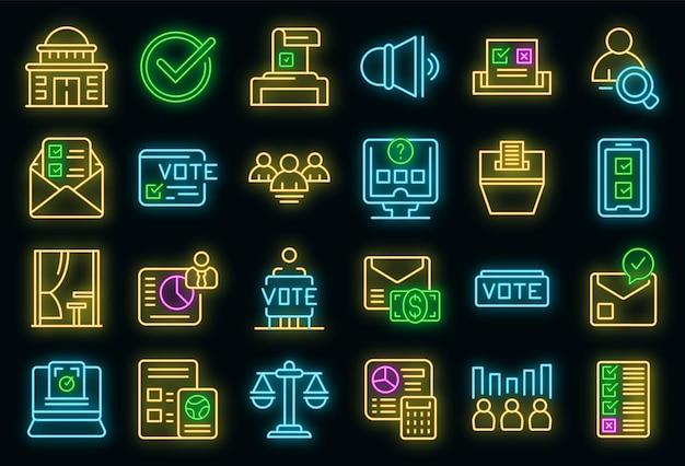 Les icônes de la cabine de vote définissent le vecteur de contour. urne électorale. campagne électorale de choix