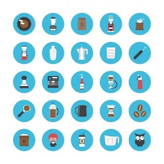 Les icônes sur le café